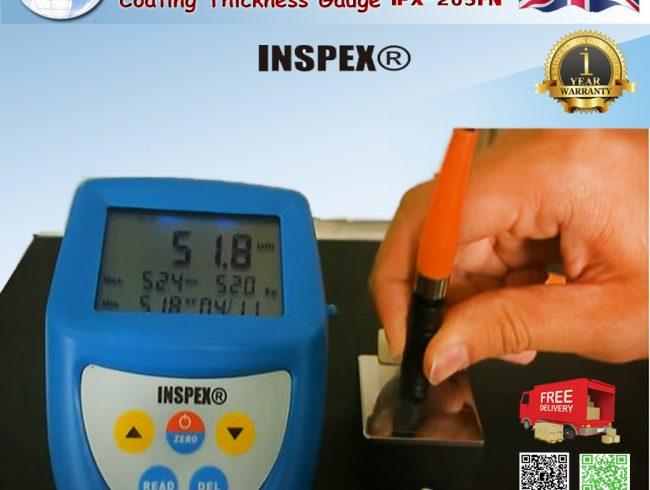 แนะนำ IPX 205FN Coating Thickness Gauge INSPEX (England) เครื่องวัดความหนาสี หัววัดแยก