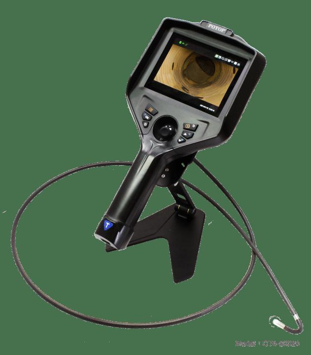 """รีวิวภาพจากกล้องบอร์สโคป CT5-39034D จอ 5.1"""" video borescope with 3.9mm, 3m 360 degree Probe. HD Dual Cameras."""