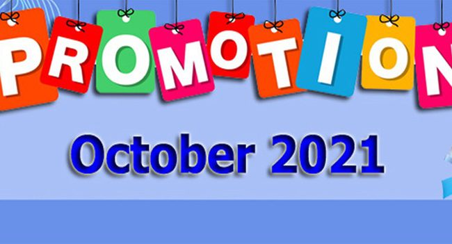 Promotion of October 2021 โปรโมชั่น เดือนตุลาคม 2564